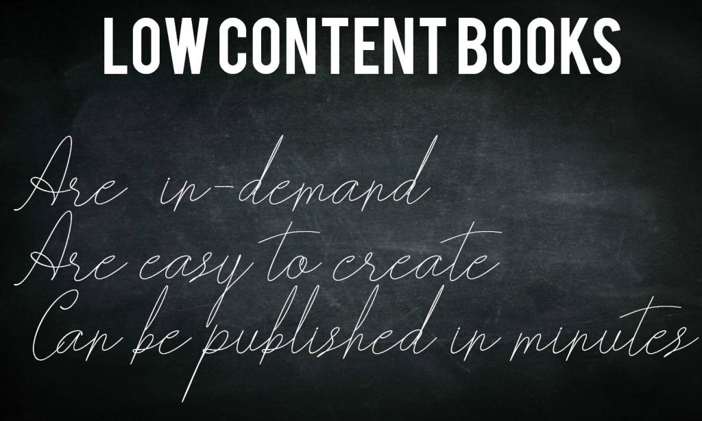 3 Reasons to publish low-content books on Amazon.