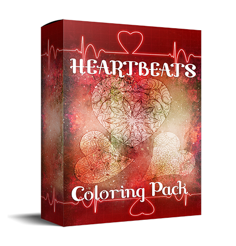 Heart-shaped coloring PLR for low content books