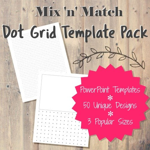 Done for You Mix n Match Dot Grid Journal Templates PLR