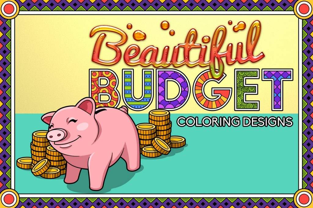 Coloring Budget Planner Templates