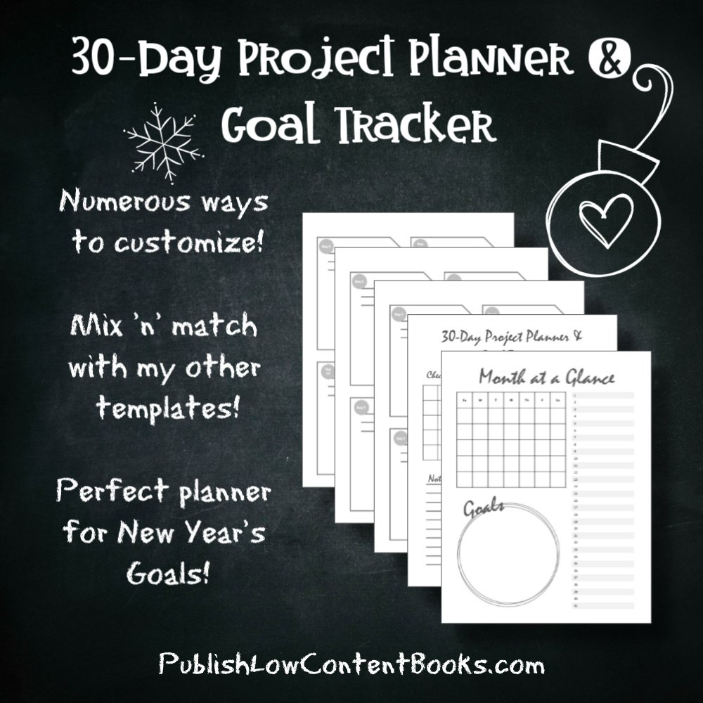 30-day project planner and goal tracker