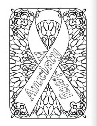 Medical Awareness Ribbon Coloring Pack