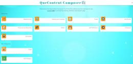 QueContent Composer