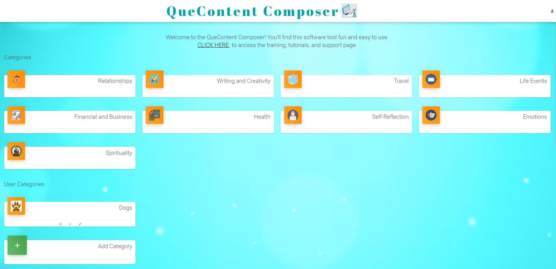 QueContent Composer Walkthrough