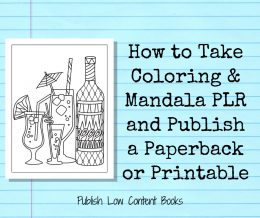 Create paperbacks and printables with coloring pages!