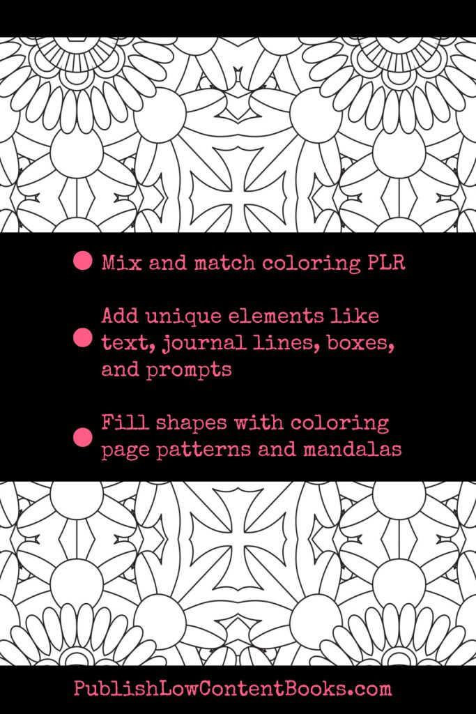 use mandala and coloring plr to publish notebooks and journals on kdp or etsy