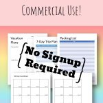 free vacation planner template for commercial use featured image