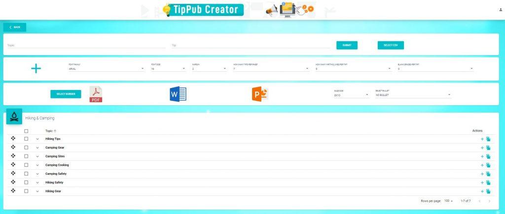 TipPub Creator Category Page
